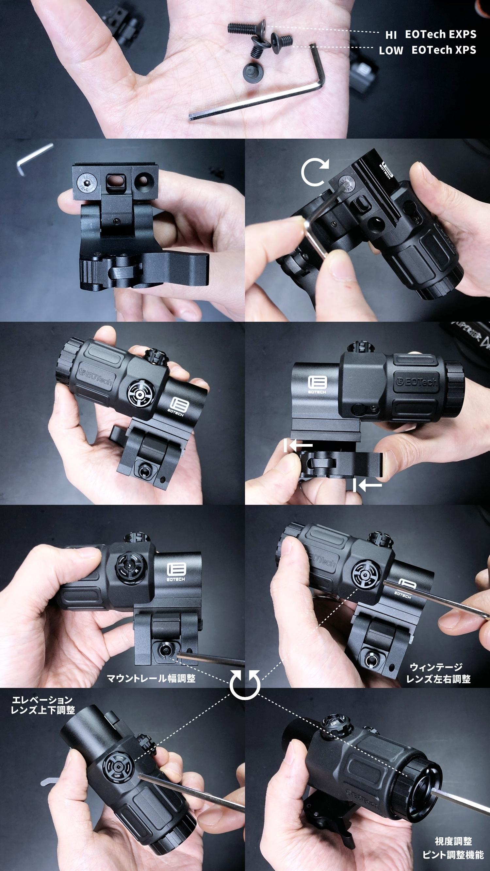 5 EVOLUTION GEAR EOTech G33 MAGNIFIER!! エボギア 3倍 ブースター マグニファイア買ってみた!! 高品質6枚レンズの実力は如何に! 開封 検証 取付 レビュー!!