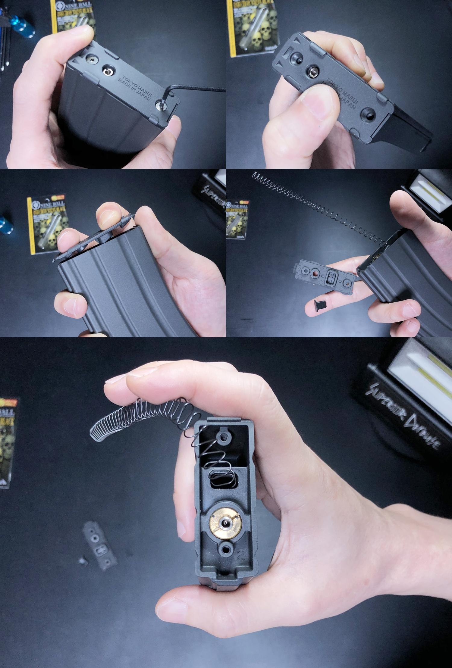 3 東京マルイ MWS M4A1 GBB マガジン ガス漏れ修理!! LayLax NINE BALL インジェクションバルブ へ交換してみるぞ!! 修理 交換 分解 取付 レビュー!!