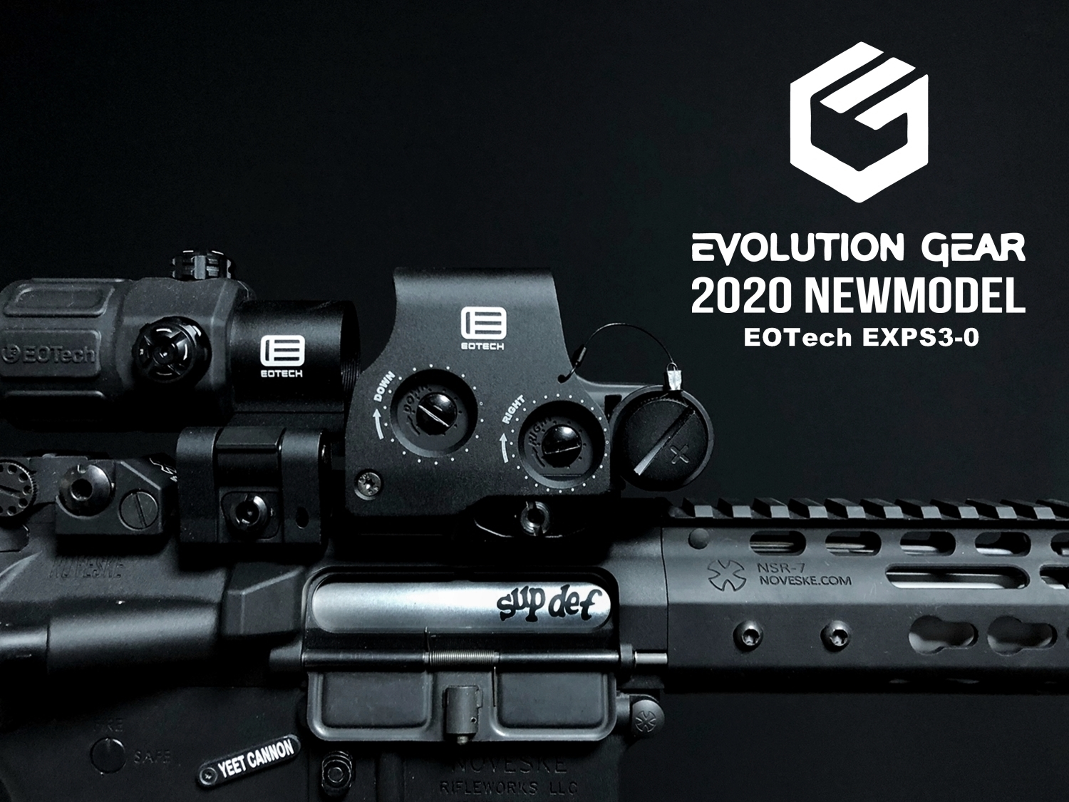 000 EVOLUTION GEAR 2020 改良版 EOTech EXPS3-0 NEW!! 最新リアルバージョンの改良点を徹底検証だ!! 新エボギア & 旧エボギア & 実物 イオテック ホロサイト!! 開封 比較 検証 取付 レビュー!!