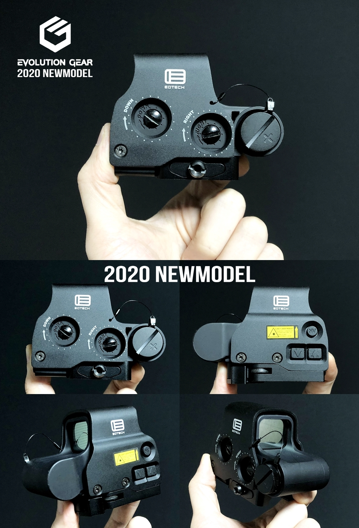 1 EVOLUTION GEAR 2020 改良版 EOTech EXPS3-0 NEW!! 最新リアルバージョンの改良点を徹底検証だ!! 新エボギア & 旧エボギア & 実物 イオテック ホロサイト!! 開封 比較 検証 取付 レビュー!!