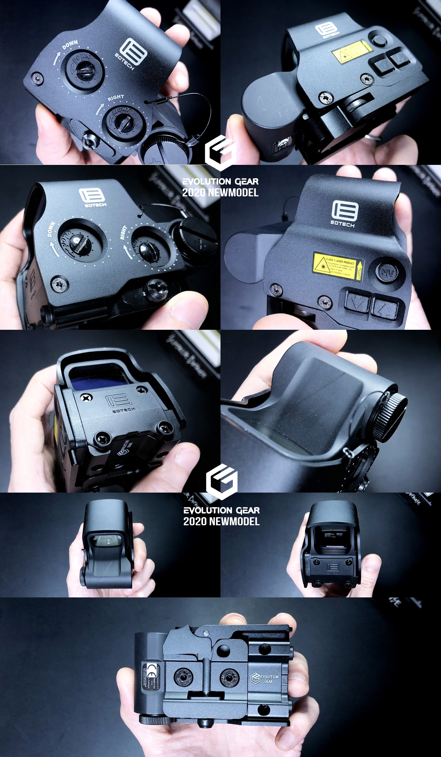 4 EVOLUTION GEAR 2020 改良版 EOTech EXPS3-0 NEW!! 最新リアルバージョンの改良点を徹底検証だ!! 新エボギア & 旧エボギア & 実物 イオテック ホロサイト!! 開封 比較 検証 取付 レビュー!!