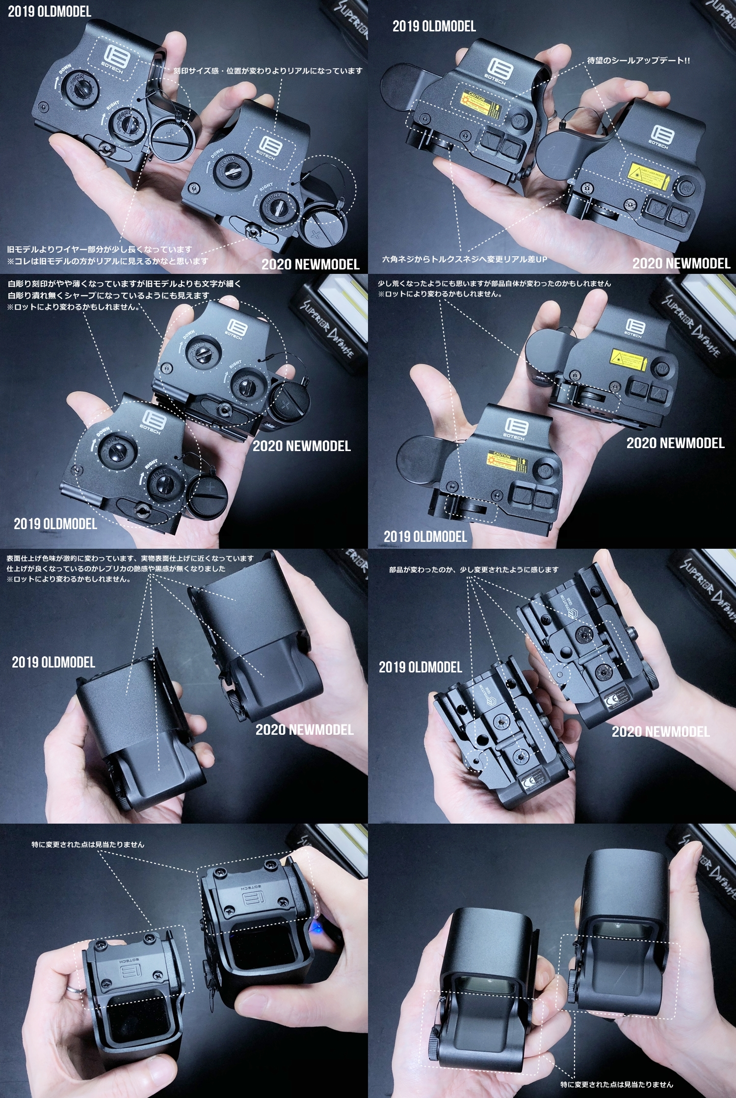 5 EVOLUTION GEAR 2020 改良版 EOTech EXPS3-0 NEW!! 最新リアルバージョンの改良点を徹底検証だ!! 新エボギア & 旧エボギア & 実物 イオテック ホロサイト!! 開封 比較 検証 取付 レビュー!!