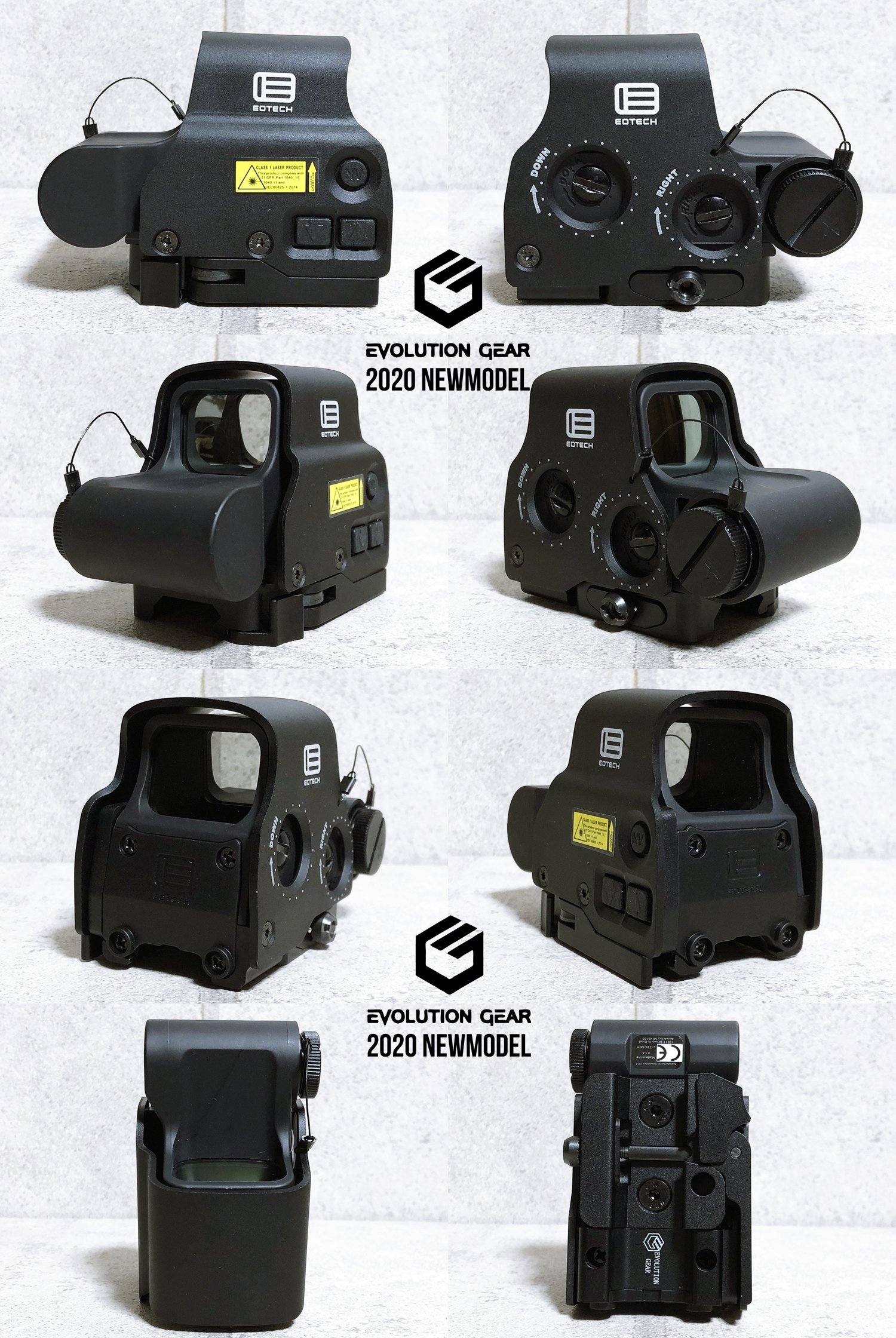 8 EVOLUTION GEAR 2020 改良版 EOTech EXPS3-0 NEW!! 最新リアルバージョンの改良点を徹底検証だ!! 新エボギア & 旧エボギア & 実物 イオテック ホロサイト!! 開封 比較 検証 取付 レビュー!!