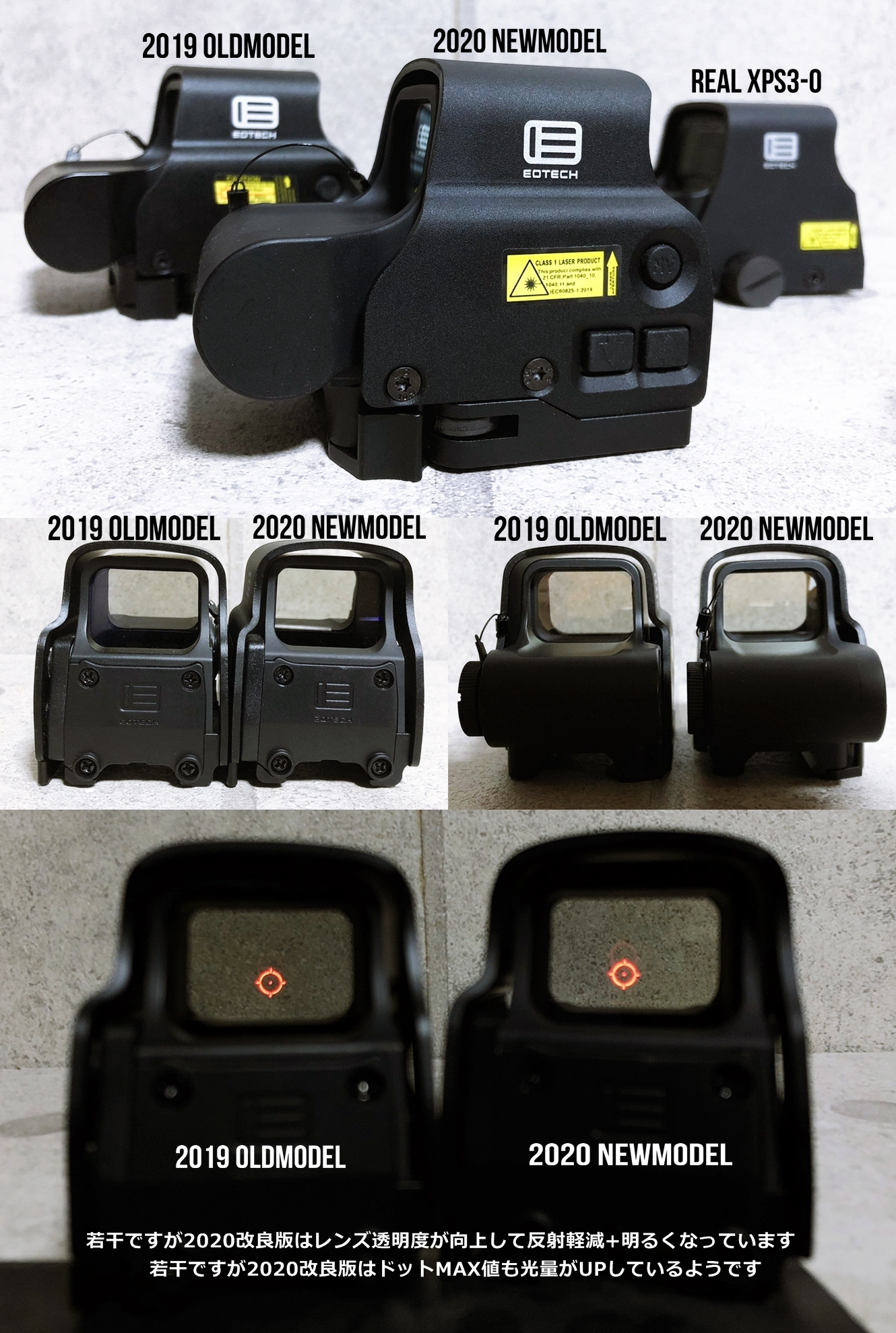 11 EVOLUTION GEAR 2020 改良版 EOTech EXPS3-0 NEW!! 最新リアルバージョンの改良点を徹底検証だ!! 新エボギア & 旧エボギア & 実物 イオテック ホロサイト!! 開封 比較 検証 取付 レビュー!!
