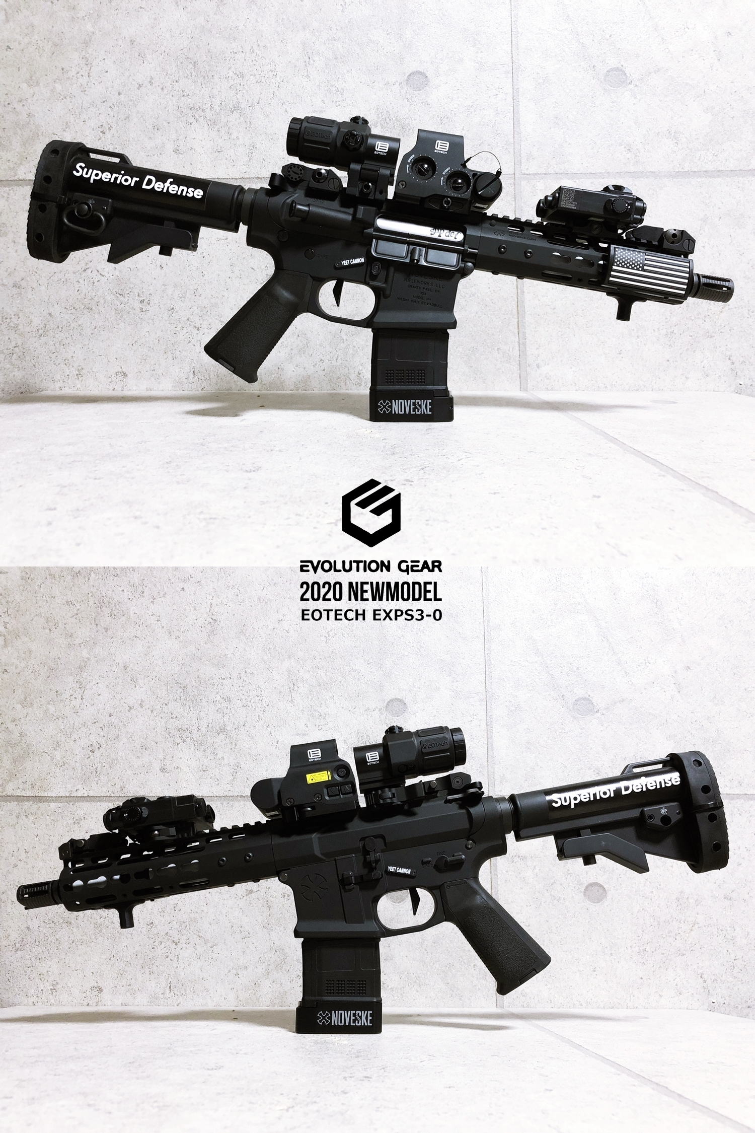 14 EVOLUTION GEAR 2020 改良版 EOTech EXPS3-0 NEW!! 最新リアルバージョンの改良点を徹底検証だ!! 新エボギア & 旧エボギア & 実物 イオテック ホロサイト!! 開封 比較 検証 取付 レビュー!!