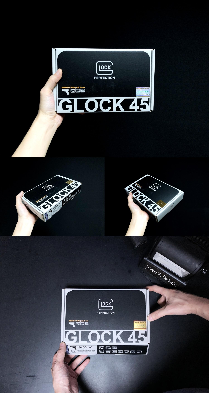 3 UMAREX VFC GLOCK G45 GBB AIRSOFT!! 噂のウマレックス G45 グロック ガスブローバック!! やっと我が家へ着弾 ~ 新品箱出し編!! 購入 開封 初速 計測 検証 比較 通常分解 組立 カスタム レビュー!!