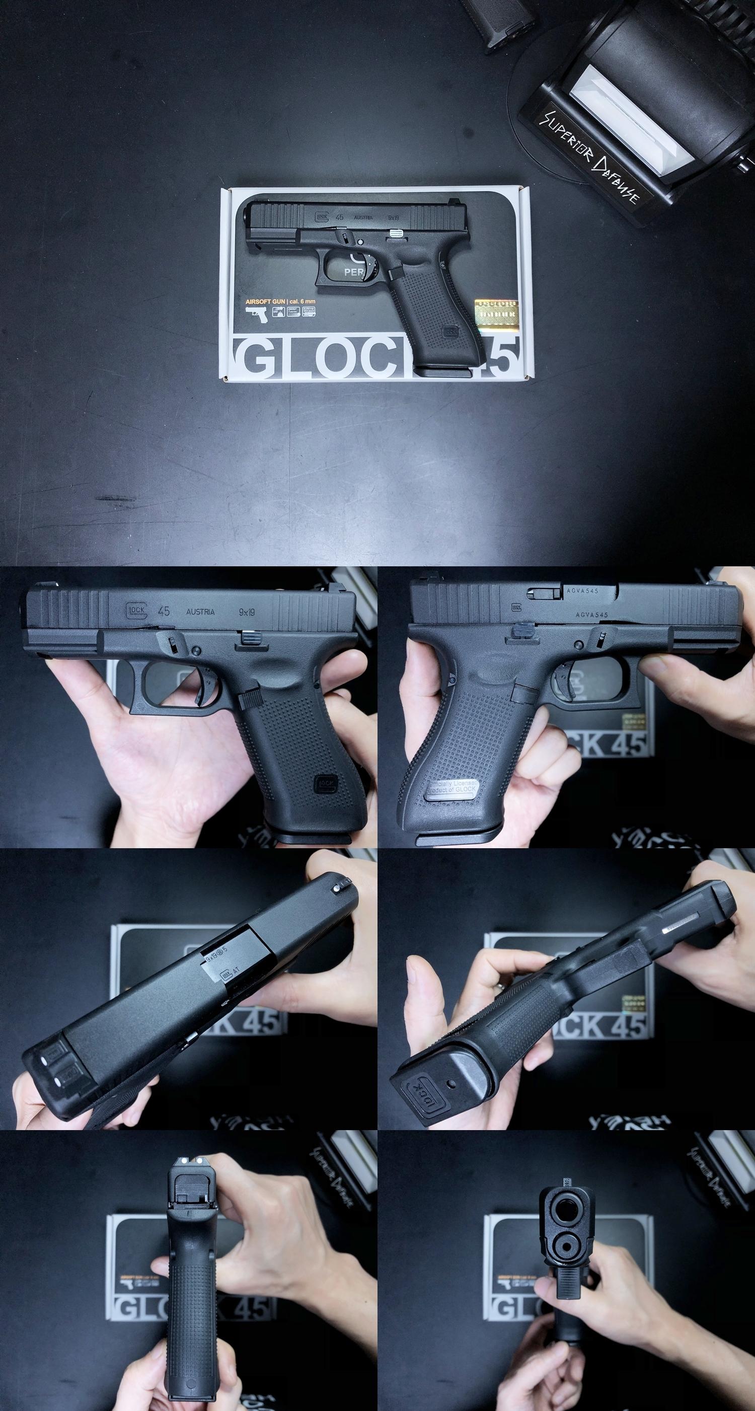 5 UMAREX VFC GLOCK G45 GBB AIRSOFT!! 噂のウマレックス G45 グロック ガスブローバック!! やっと我が家へ着弾 ~ 新品箱出し編!! 購入 開封 初速 計測 検証 比較 通常分解 組立 カスタム レビュー!!