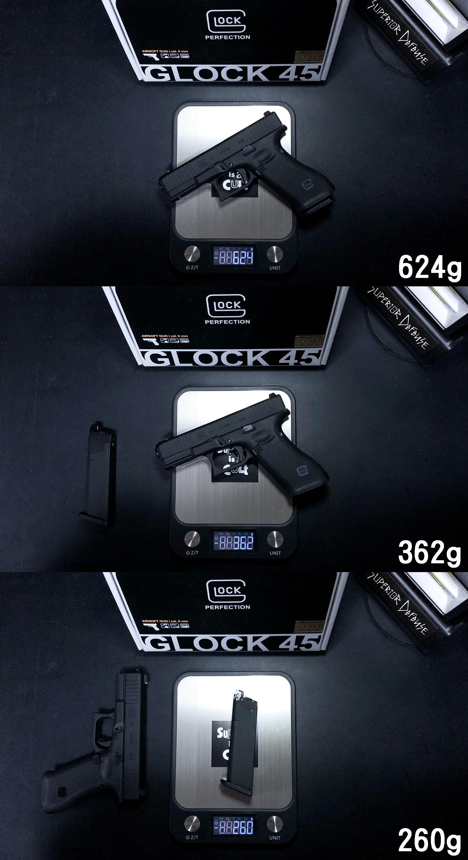 13 UMAREX VFC GLOCK G45 GBB AIRSOFT!! 噂のウマレックス G45 グロック ガスブローバック!! やっと我が家へ着弾 ~ 新品箱出し編!! 購入 開封 初速 計測 検証 比較 通常分解 組立 カスタム レビュー!!