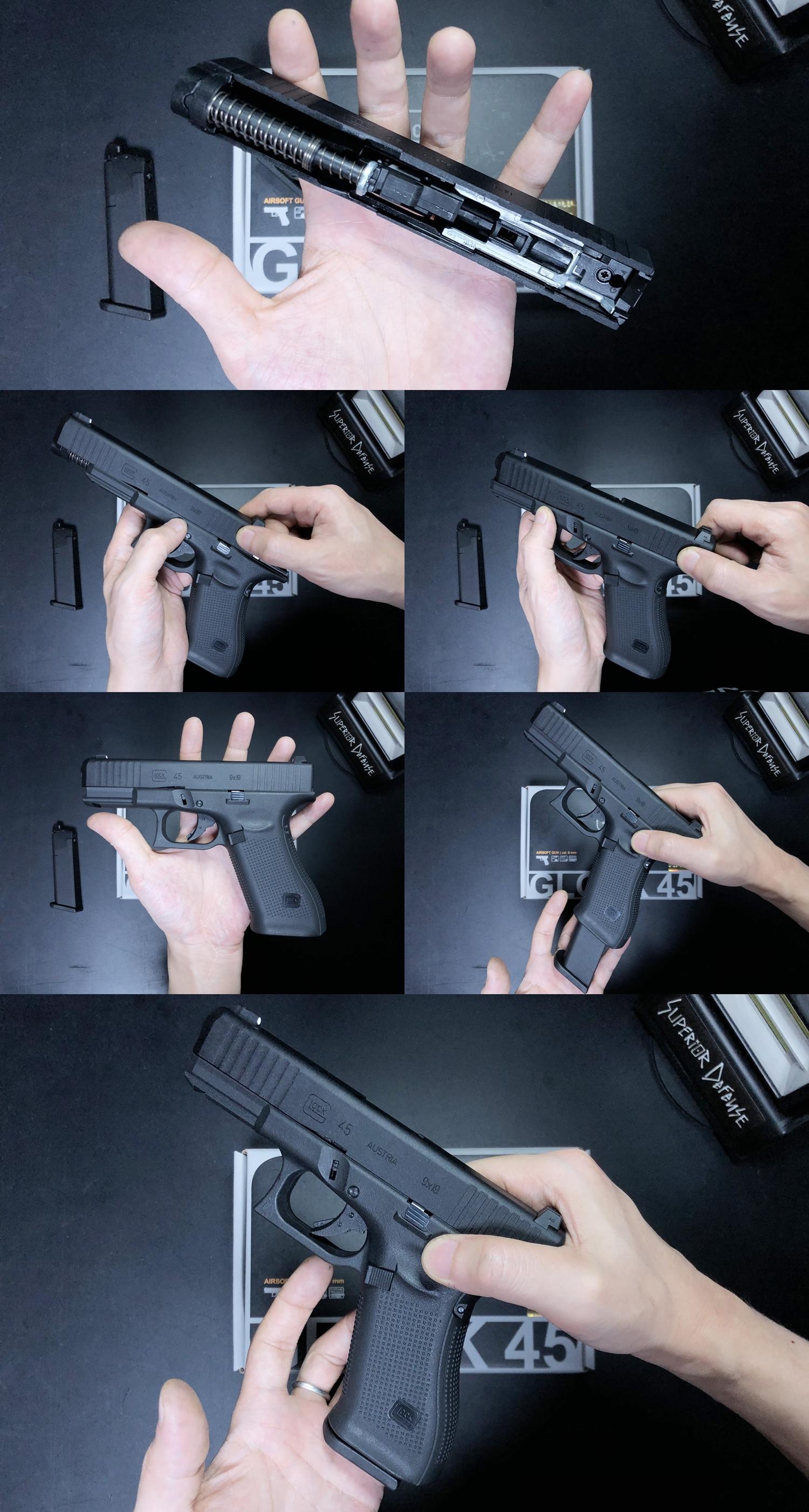 17 UMAREX VFC GLOCK G45 GBB AIRSOFT!! 噂のウマレックス G45 グロック ガスブローバック!! やっと我が家へ着弾 ~ 新品箱出し編!! 購入 開封 初速 計測 検証 比較 通常分解 組立 カスタム レビュー!!