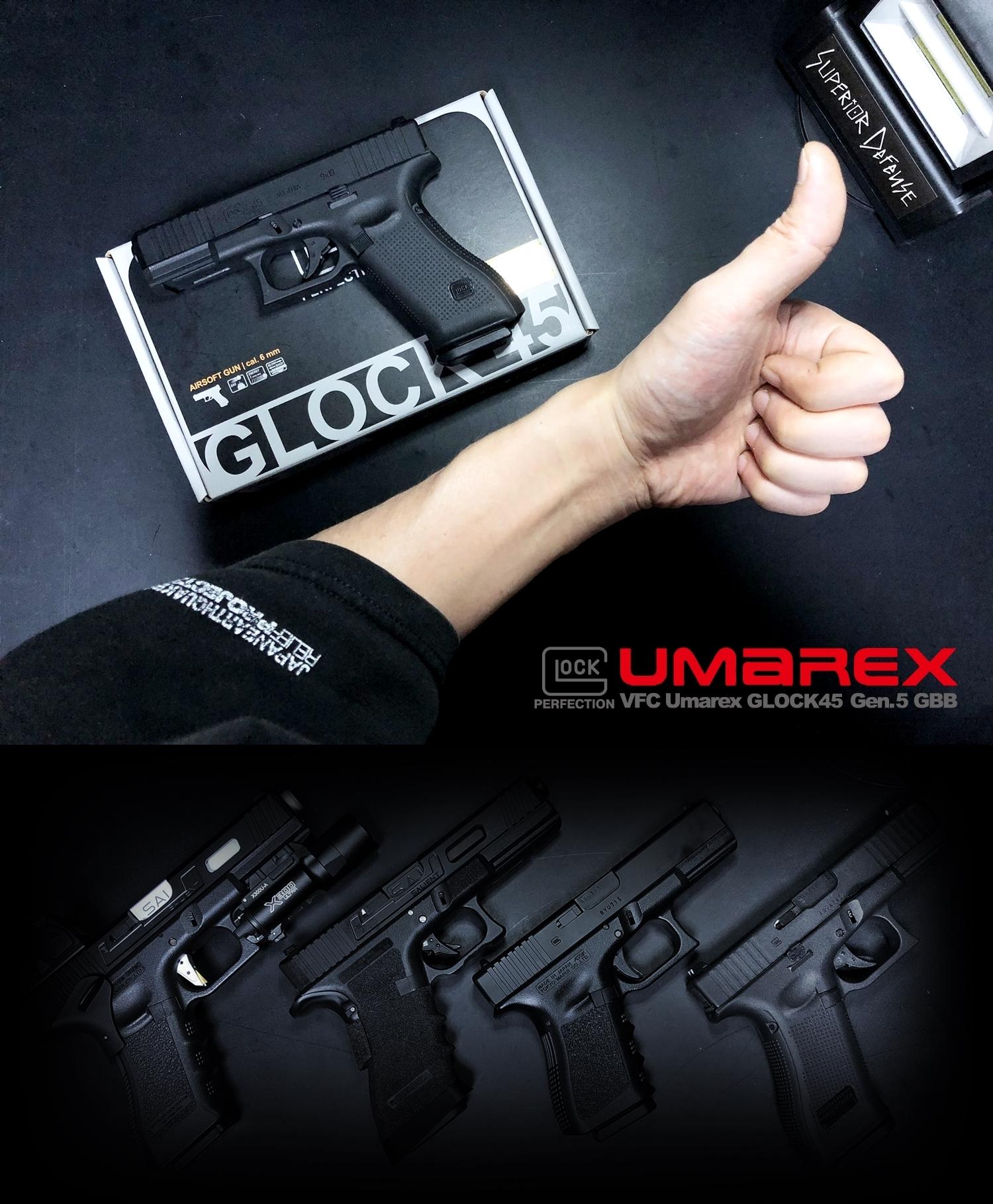 20 UMAREX VFC GLOCK G45 GBB AIRSOFT!! 噂のウマレックス G45 グロック ガスブローバック!! やっと我が家へ着弾 ~ 新品箱出し編!! 購入 開封 初速 計測 検証 比較 通常分解 組立 カスタム レビュー!!