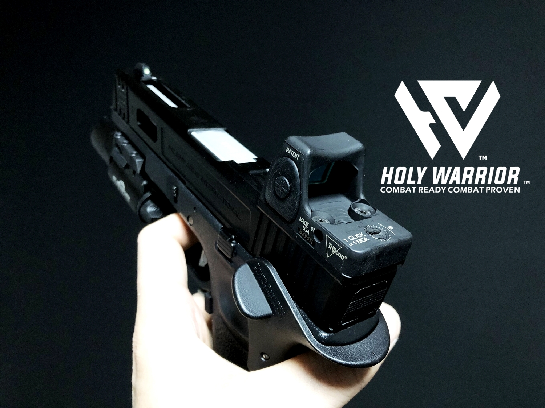 0 HolyWarrior製 RMR Trijicon Type ドットサイト GET!! 噂のHW製 最新 超軽量 複合材質 樹脂 タイプを購入したけど速攻で仲間に奪われました(笑)!! Glock G17 GBB カスタム!! 購入 開封 取付 加工 レビュー!!