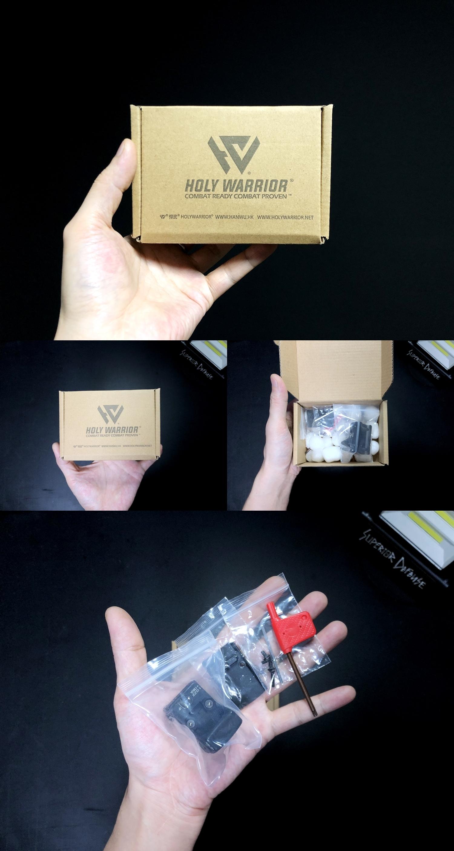 1 HolyWarrior製 RMR Trijicon Type ドットサイト GET!! 噂のHW製 最新 超軽量 複合材質 樹脂 タイプを購入したけど速攻で仲間に奪われました(笑)!! Glock G17 GBB カスタム!! 購入 開封 取付 加工 レビュー!!