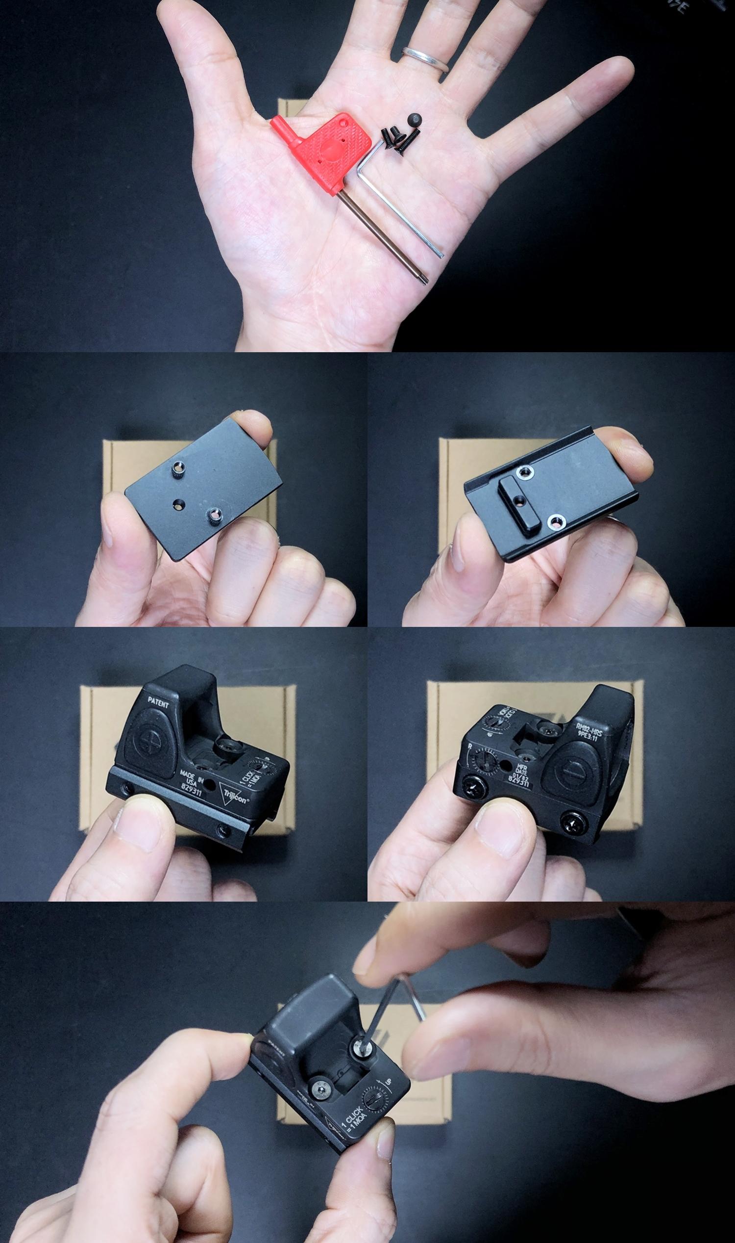 2 HolyWarrior製 RMR Trijicon Type ドットサイト GET!! 噂のHW製 最新 超軽量 複合材質 樹脂 タイプを購入したけど速攻で仲間に奪われました(笑)!! Glock G17 GBB カスタム!! 購入 開封 取付 加工 レビュー!!