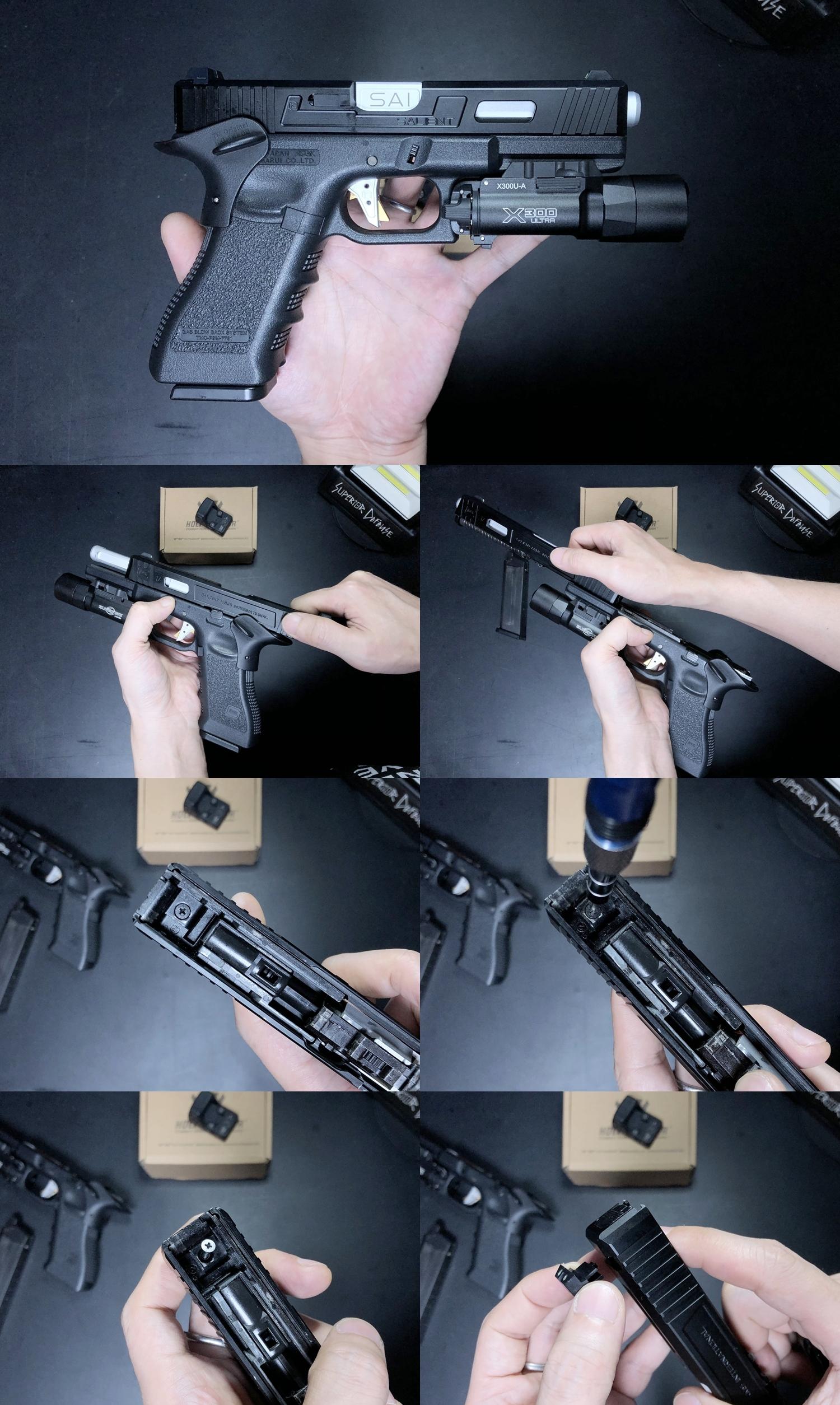 6 HolyWarrior製 RMR Trijicon Type ドットサイト GET!! 噂のHW製 最新 超軽量 複合材質 樹脂 タイプを購入したけど速攻で仲間に奪われました(笑)!! Glock G17 GBB カスタム!! 購入 開封 取付 加工 レビュー!!
