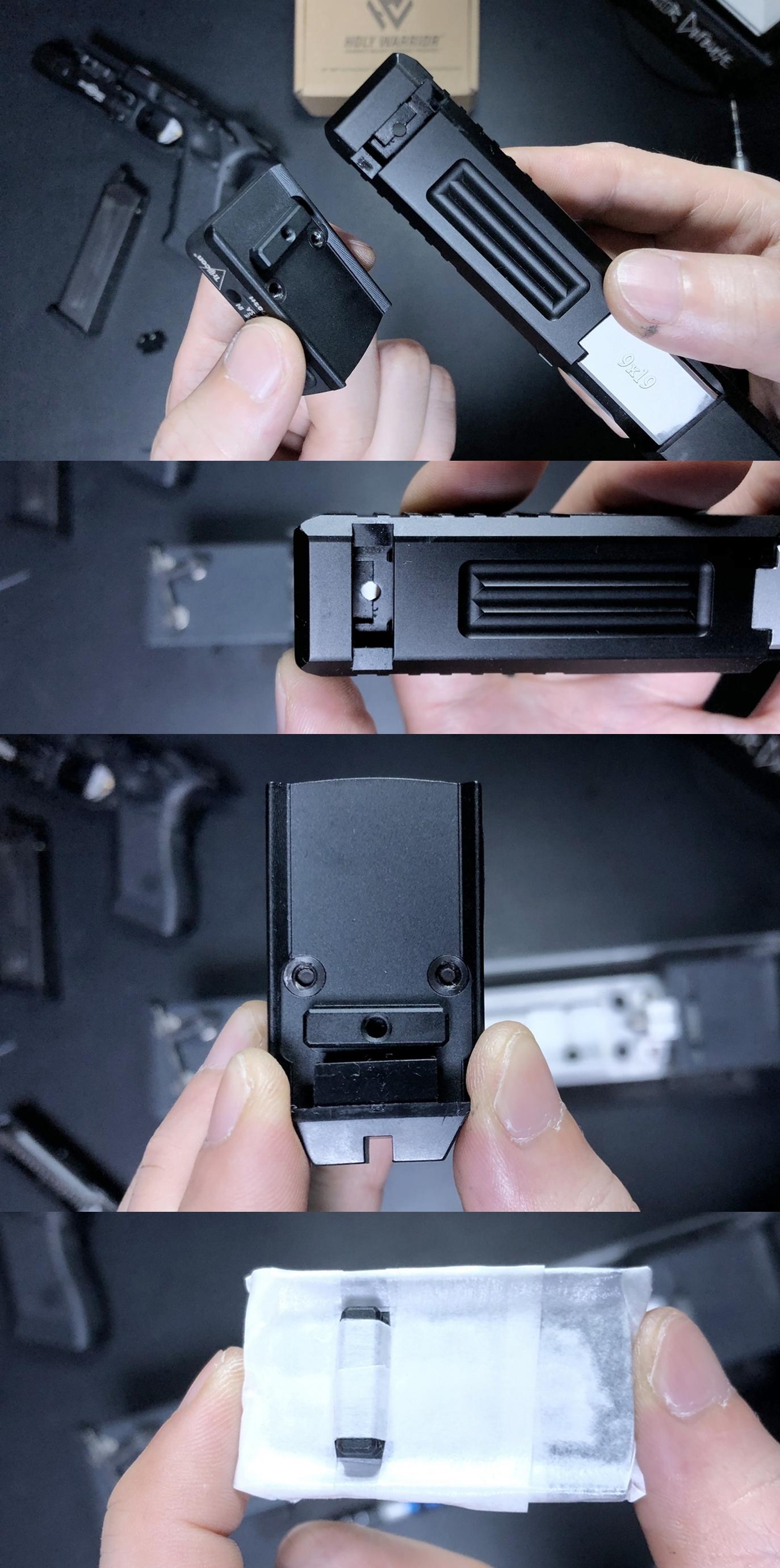7 HolyWarrior製 RMR Trijicon Type ドットサイト GET!! 噂のHW製 最新 超軽量 複合材質 樹脂 タイプを購入したけど速攻で仲間に奪われました(笑)!! Glock G17 GBB カスタム!! 購入 開封 取付 加工 レビュー!!