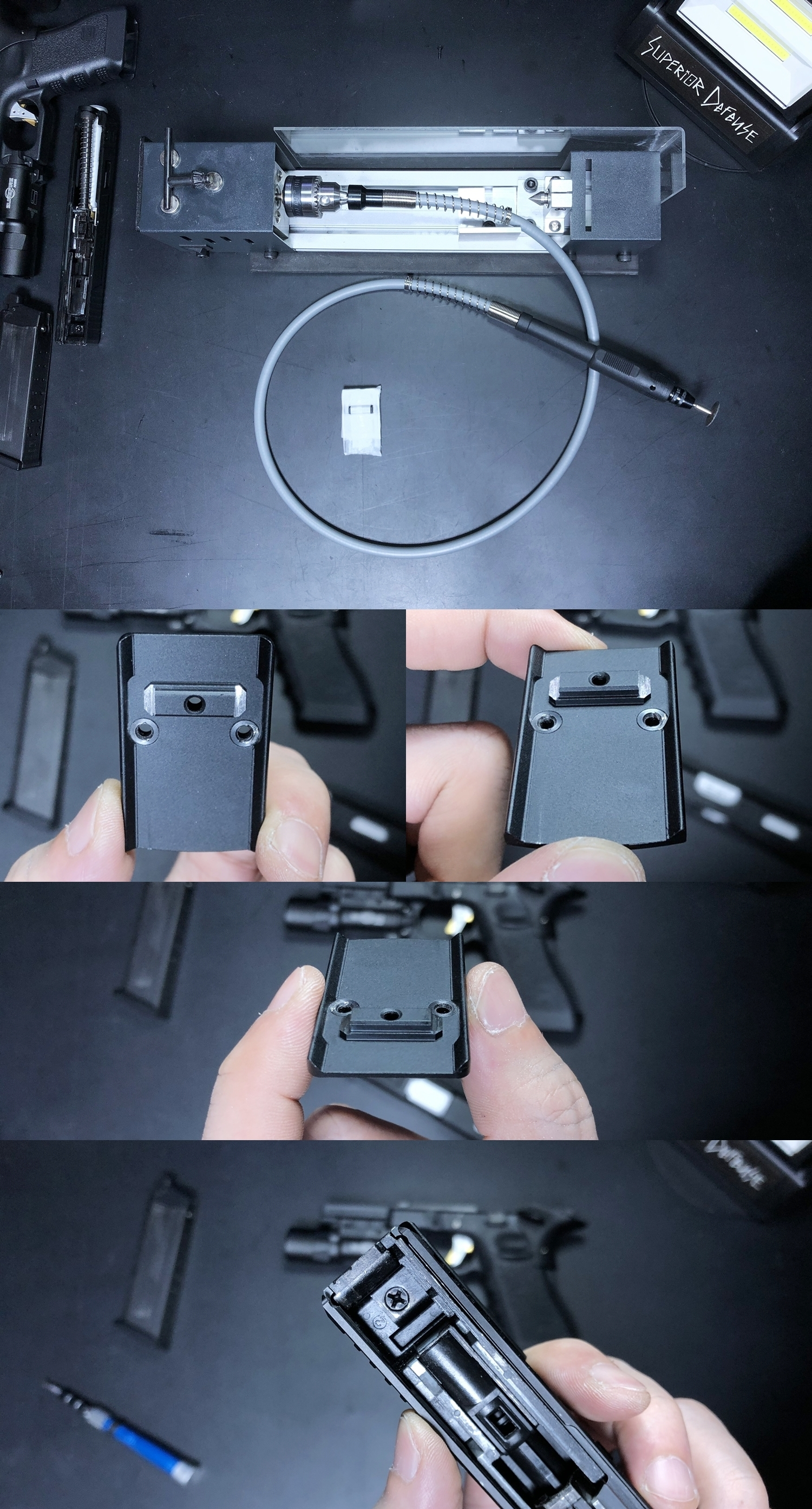 8 HolyWarrior製 RMR Trijicon Type ドットサイト GET!! 噂のHW製 最新 超軽量 複合材質 樹脂 タイプを購入したけど速攻で仲間に奪われました(笑)!! Glock G17 GBB カスタム!! 購入 開封 取付 加工 レビュー!!