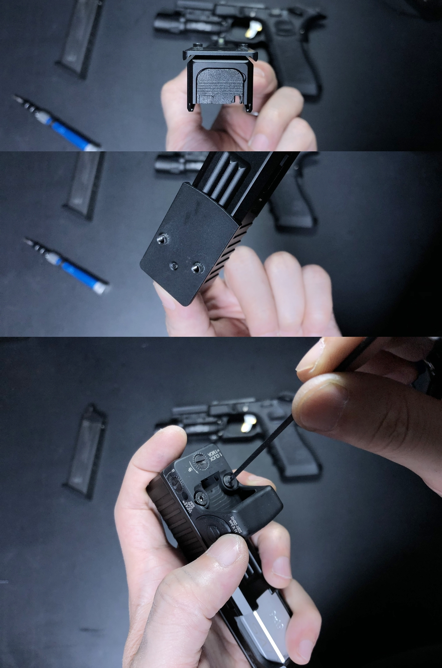 9 HolyWarrior製 RMR Trijicon Type ドットサイト GET!! 噂のHW製 最新 超軽量 複合材質 樹脂 タイプを購入したけど速攻で仲間に奪われました(笑)!! Glock G17 GBB カスタム!! 購入 開封 取付 加工 レビュー!!