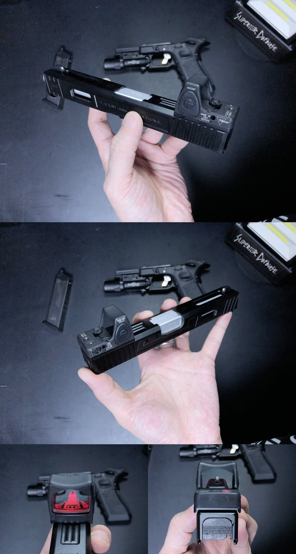 10 HolyWarrior製 RMR Trijicon Type ドットサイト GET!! 噂のHW製 最新 超軽量 複合材質 樹脂 タイプを購入したけど速攻で仲間に奪われました(笑)!! Glock G17 GBB カスタム!! 購入 開封 取付 加工 レビュー!!