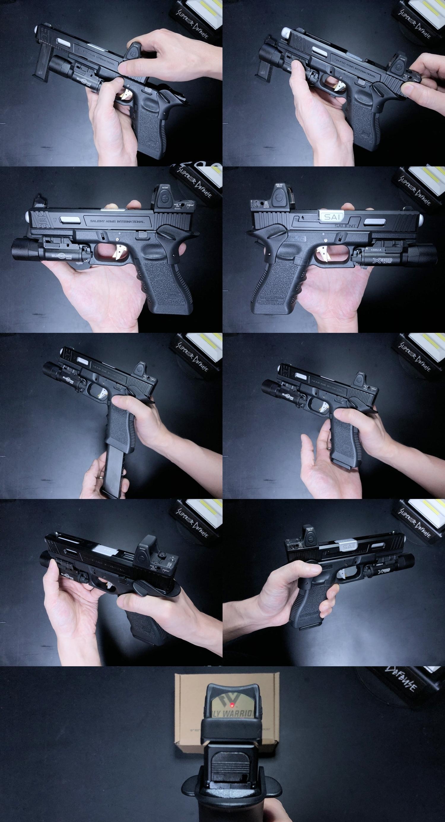 11 HolyWarrior製 RMR Trijicon Type ドットサイト GET!! 噂のHW製 最新 超軽量 複合材質 樹脂 タイプを購入したけど速攻で仲間に奪われました(笑)!! Glock G17 GBB カスタム!! 購入 開封 取付 加工 レビュー!!