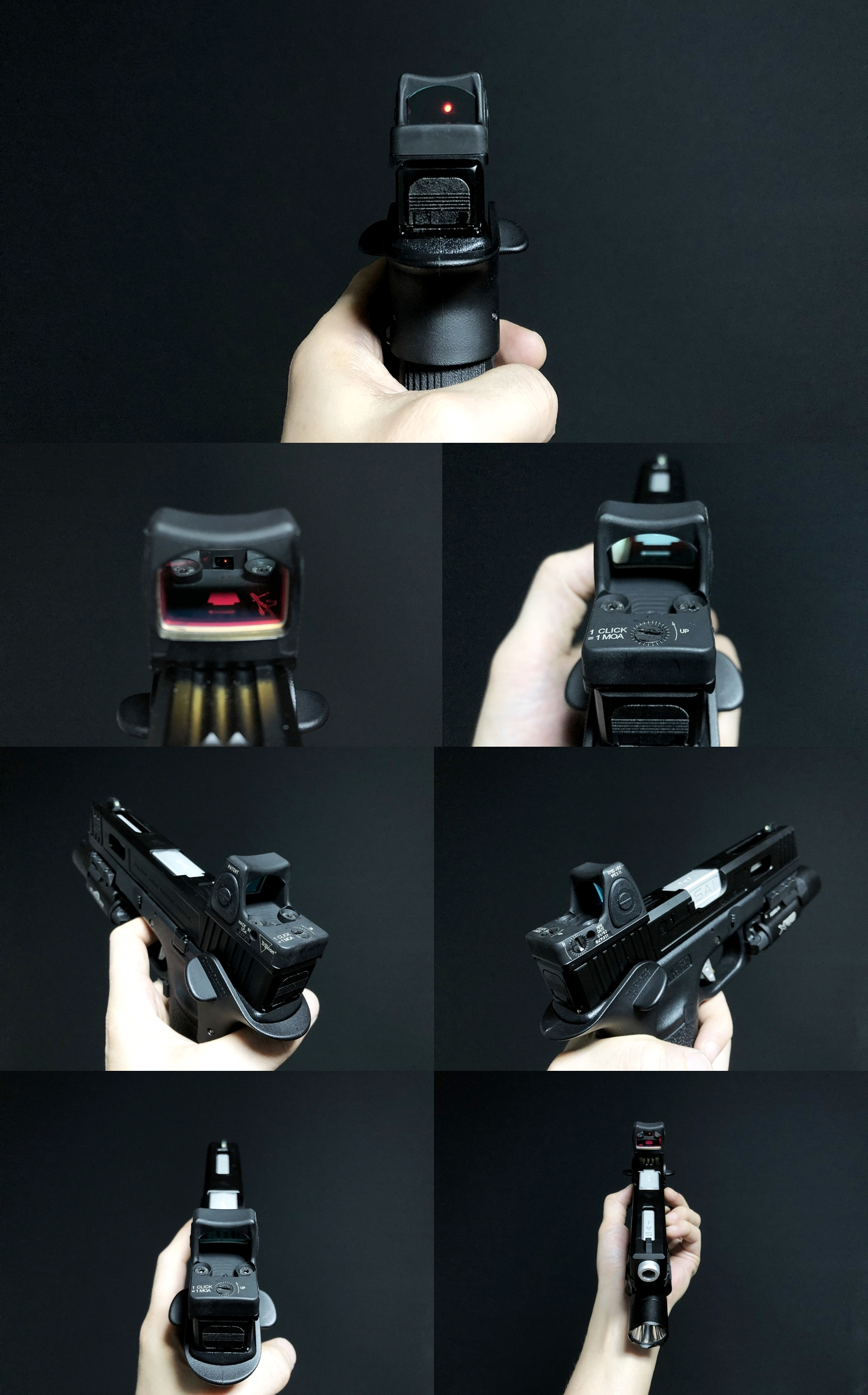 12 HolyWarrior製 RMR Trijicon Type ドットサイト GET!! 噂のHW製 最新 超軽量 複合材質 樹脂 タイプを購入したけど速攻で仲間に奪われました(笑)!! Glock G17 GBB カスタム!! 購入 開封 取付 加工 レビュー!!
