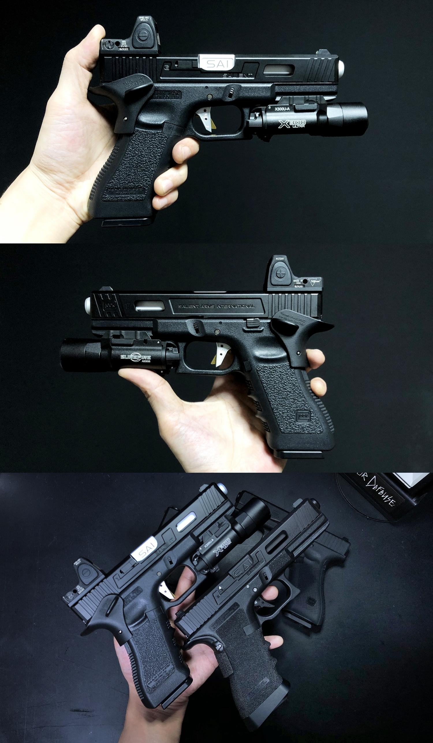 13 HolyWarrior製 RMR Trijicon Type ドットサイト GET!! 噂のHW製 最新 超軽量 複合材質 樹脂 タイプを購入したけど速攻で仲間に奪われました(笑)!! Glock G17 GBB カスタム!! 購入 開封 取付 加工 レビュー!!