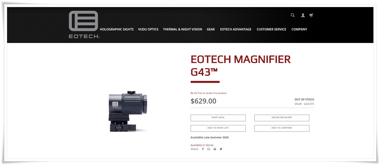 pr1 EOTECH G43 NEW MAGNIFIER 2020 TYPE!! イオテック マグニファイア レプリカ 3倍 ブースター!! 購入してた事すら忘れてた!今さらだけど(笑)!! EG製 G33 比較 検証 開封 取付 レビュー!!