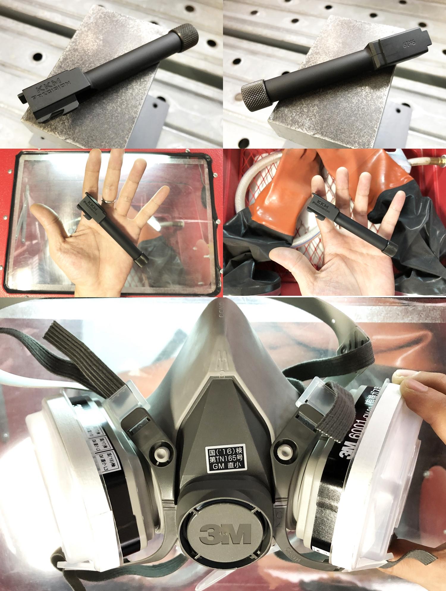 3 KKM MATCH BARREL + PROTECTOR KJ WORKS G19 TYPE & COMPENSATOR β-VERSION HILOG ORIGINAL 3D MOCKUP!! 『SUPDEFG19』自力で作るぞ大作戦!! 最も重要なアウターバレル&コンペンセイターの準備は整った!! DIY サン