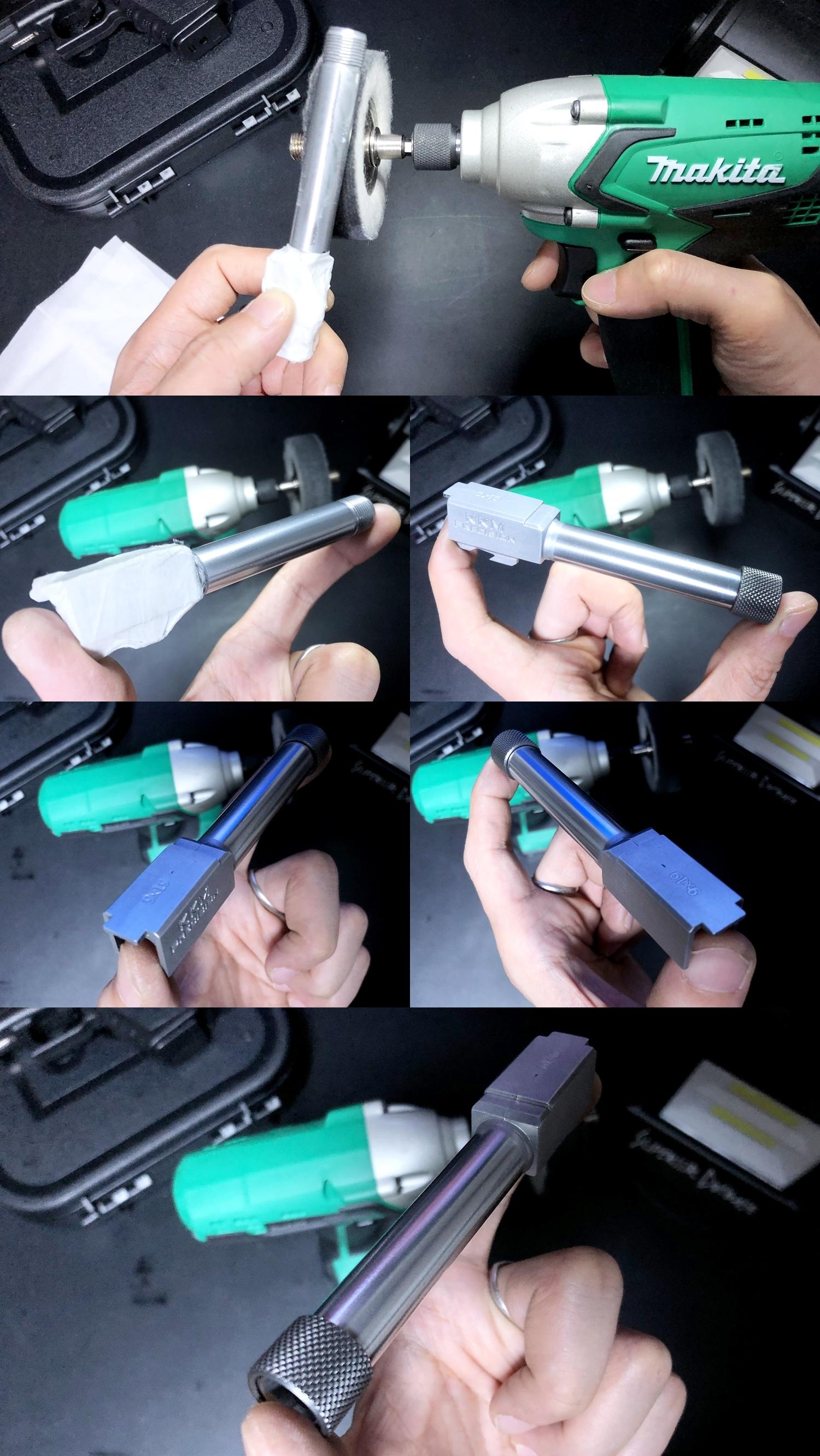 9 KKM MATCH BARREL + PROTECTOR KJ WORKS G19 TYPE & COMPENSATOR β-VERSION HILOG ORIGINAL 3D MOCKUP!! 『SUPDEFG19』自力で作るぞ大作戦!! 最も重要なアウターバレル&コンペンセイターの準備は整った!! DIY サン