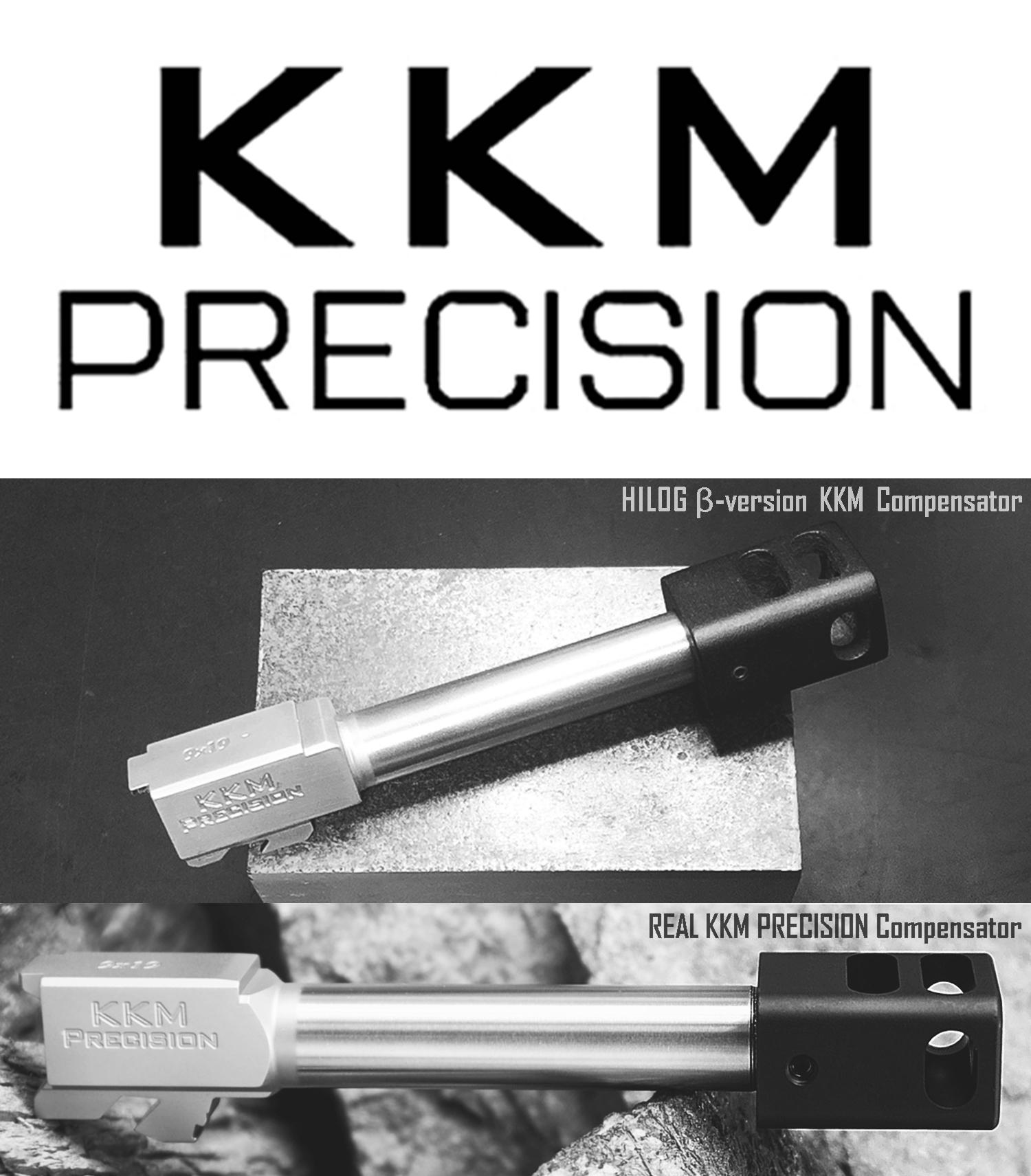 17 KKM MATCH BARREL + PROTECTOR KJ WORKS G19 TYPE & COMPENSATOR β-VERSION HILOG ORIGINAL 3D MOCKUP!! 『SUPDEFG19』自力で作るぞ大作戦!! 最も重要なアウターバレル&コンペンセイターの準備は整った!! DIY サ