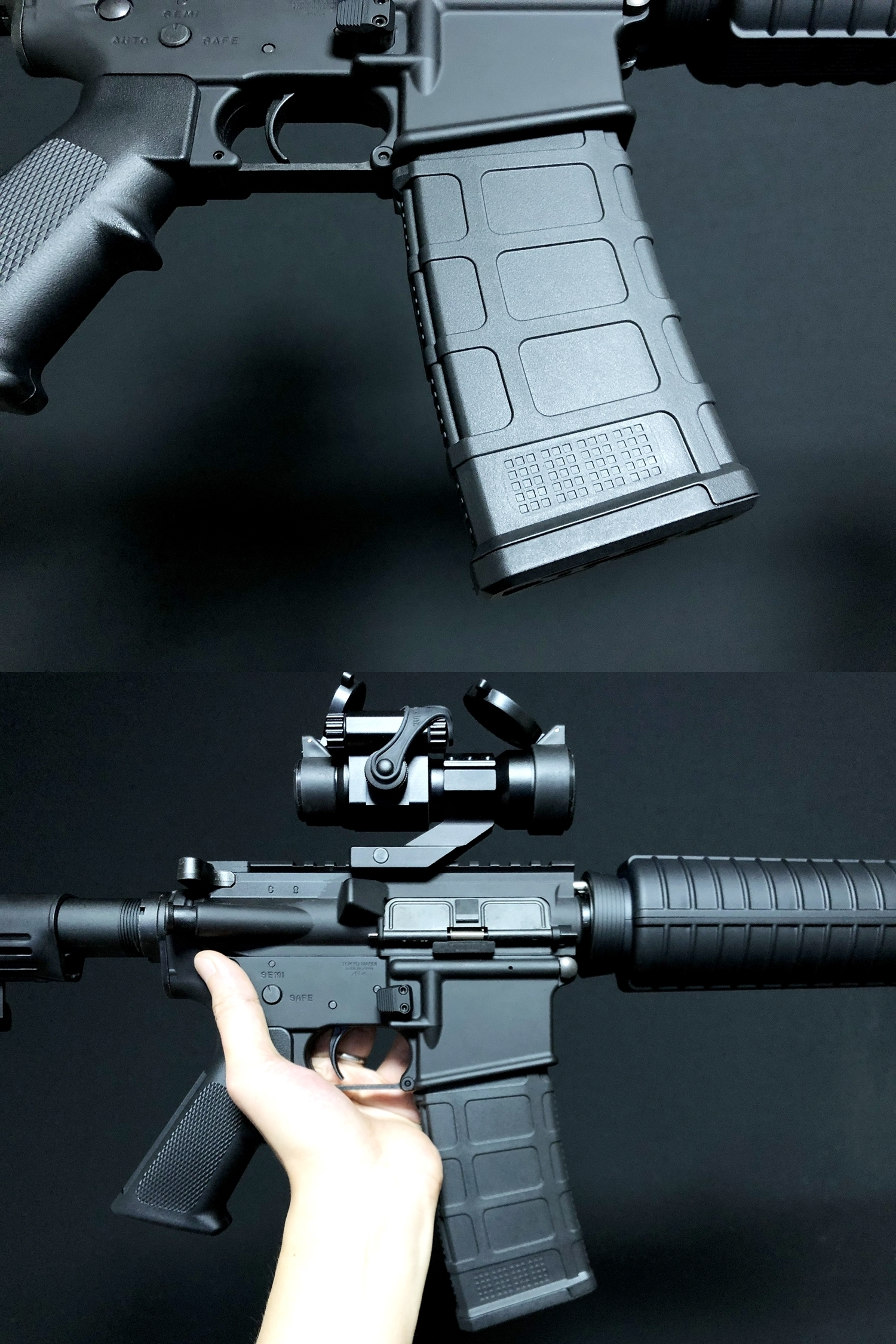 15 MAGPUL TYPE DYTAC ENHANCED AR MAGAZINE RELEASE & ACE 1 ARMS P-MAG FOR MWS GBB!! DEVILSIXさんからお荷物が着弾しました!! HILOG ORIGINAL 3D マグリリースボタン簡易的交換ツール制作!! 購入 開封 取付 検証