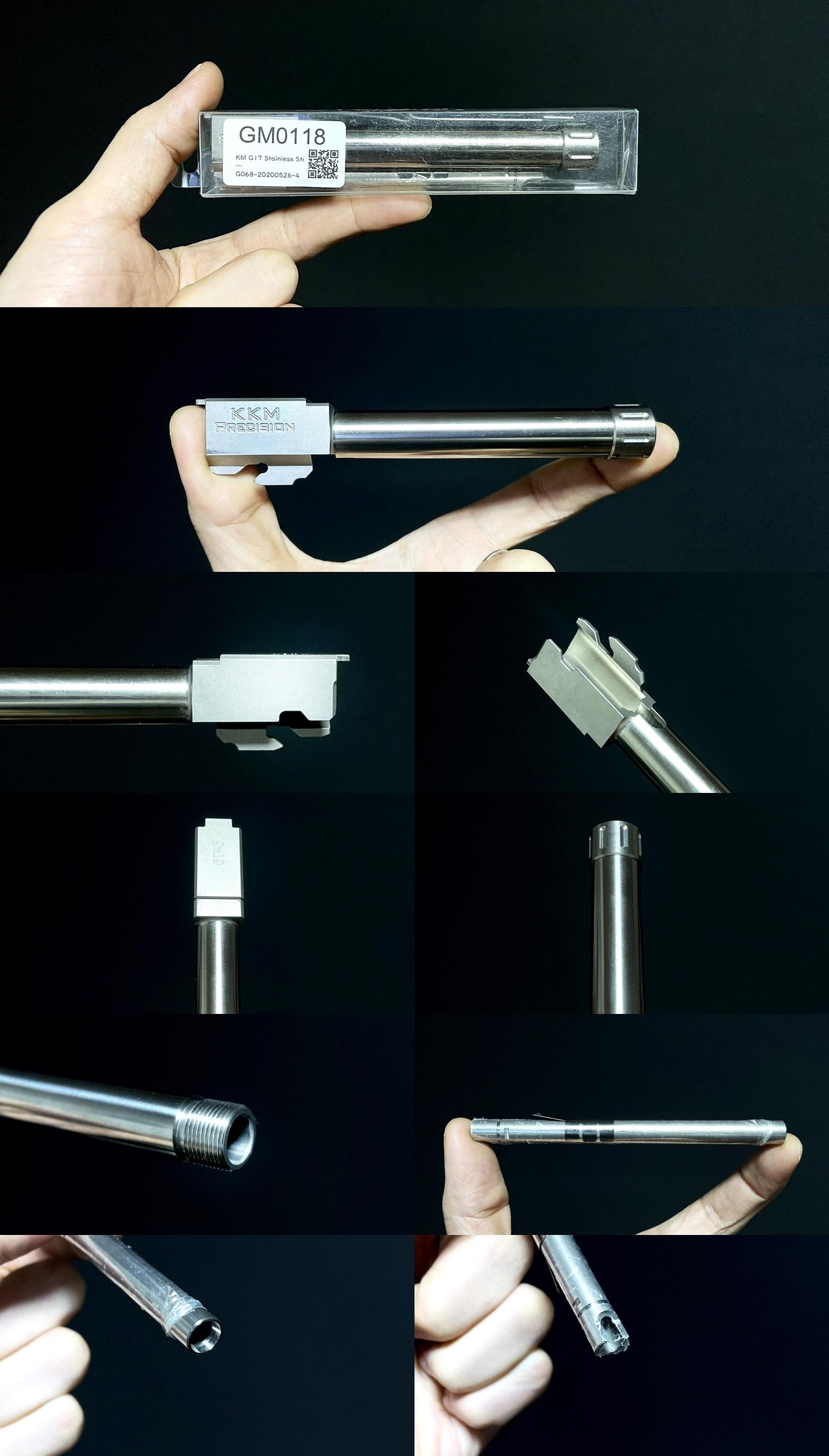 1 Guns Modify KKM PRECISION GLOCK ステンレスアウターバレル 東京マルイ G17 G18C GBB GET! リアルで重量感あるCNC 精密切り出し加工! BARREL+PROTECTOR+ショートリコイルアシストスプリング+インナーバレルセット