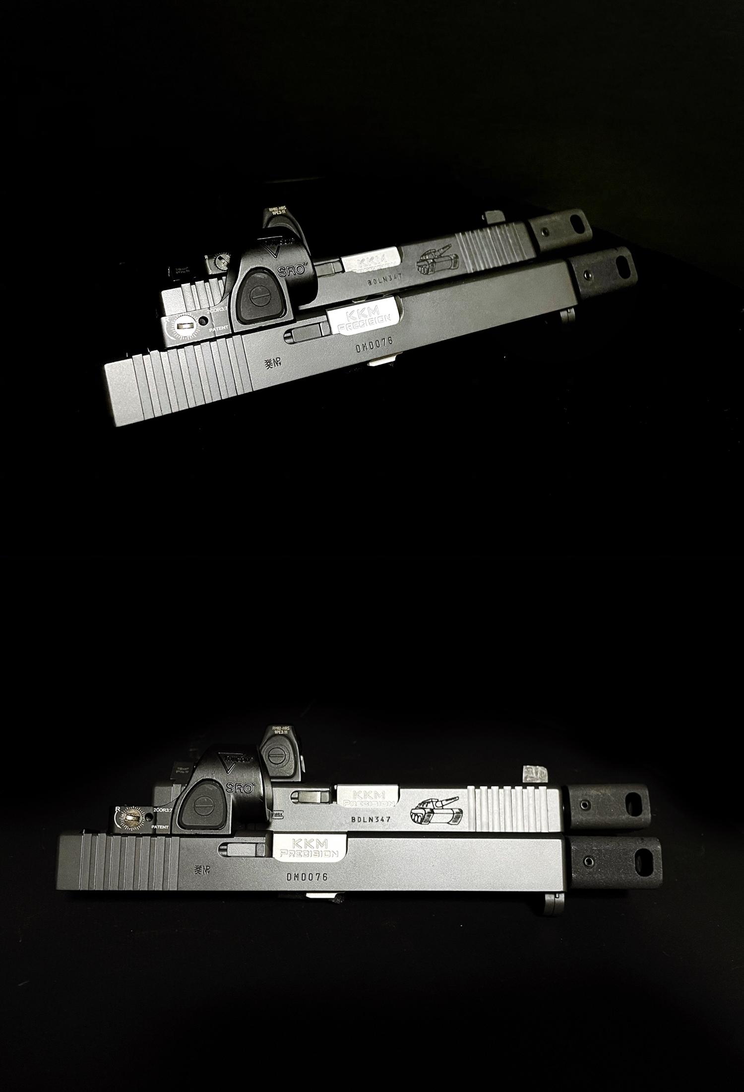 13 Guns Modify KKM PRECISION GLOCK ステンレスアウターバレル 東京マルイ G17 G18C GBB GET! リアルで重量感あるCNC 精密切り出し加工! BARREL+PROTECTOR+ショートリコイルアシストスプリング+インナーバレルセッ