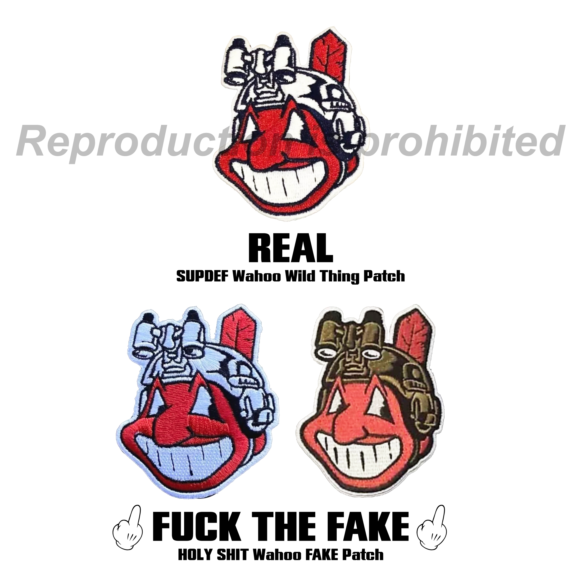 Superior Defense SUPDEF Wahoo Wild Thing Patch REAL or FAKE FUCK THE FAKE