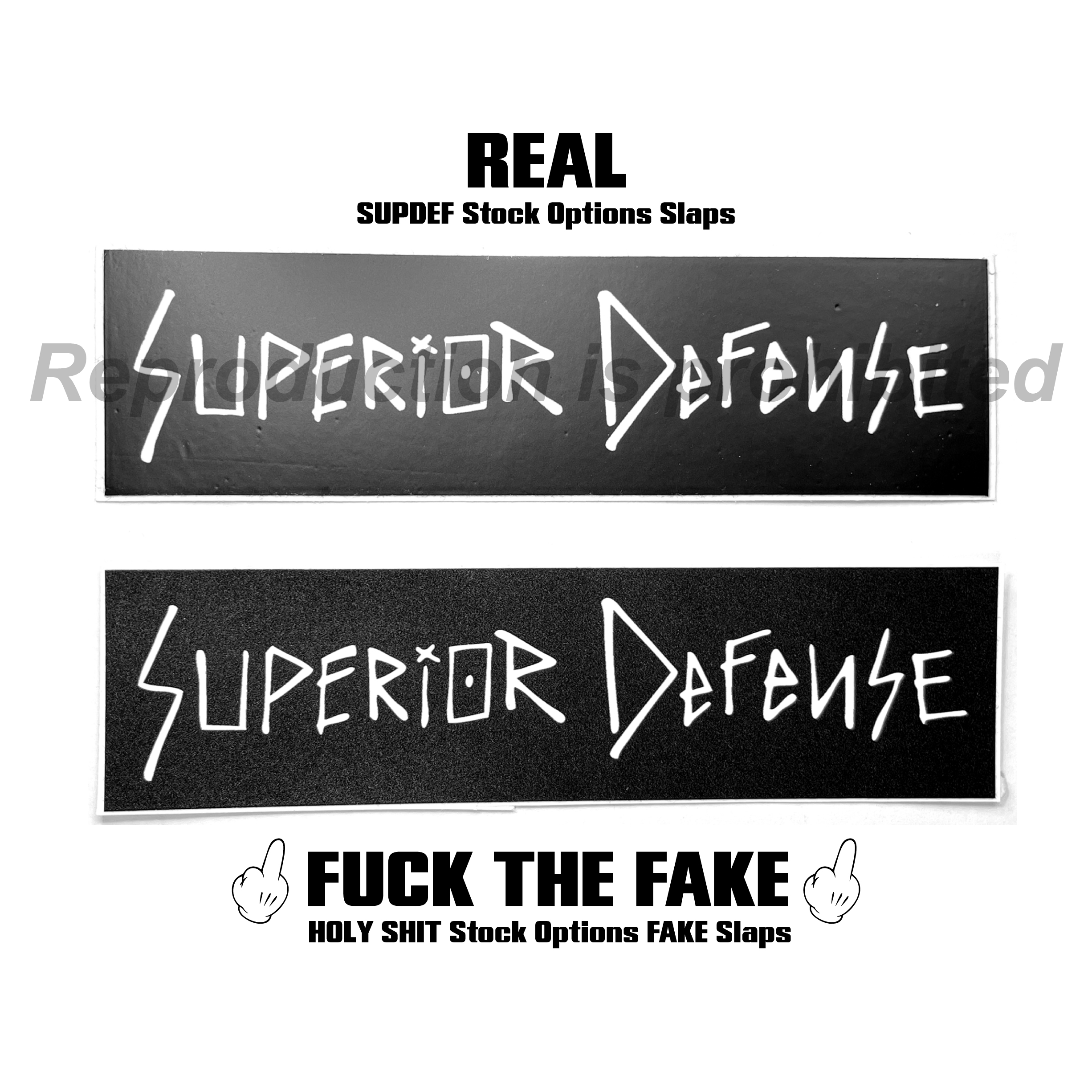 black mini Superior Defense SUPDEF Wahoo Wild Thing Patch REAL or FAKE FUCK THE FAKE