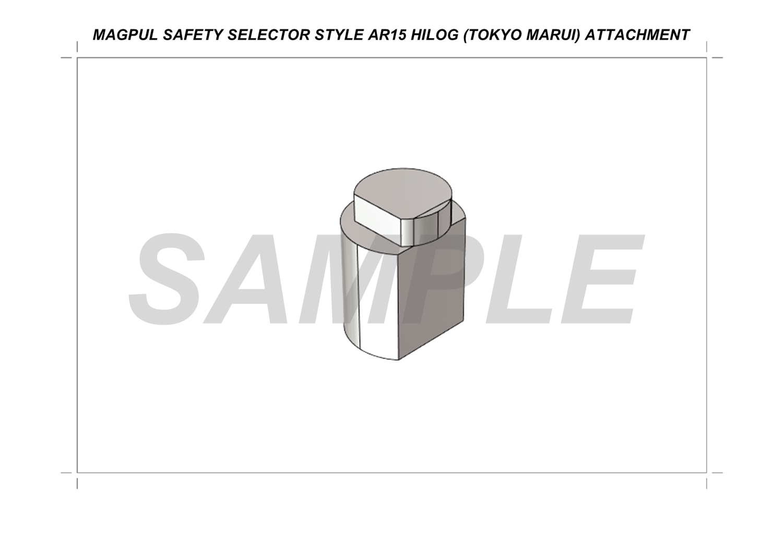 4 本家 PTS MAGPUL SAFETY SELECTOR STYLE SSG HILOG ORIGINAL 3D DUMMY SELECTOR TOKYO MARUI AEG ATTACHMENT! M4GBB専用マグプル『アンビセーフティーセレクターレバー』をオリジナル専用アタッチメント作って無理