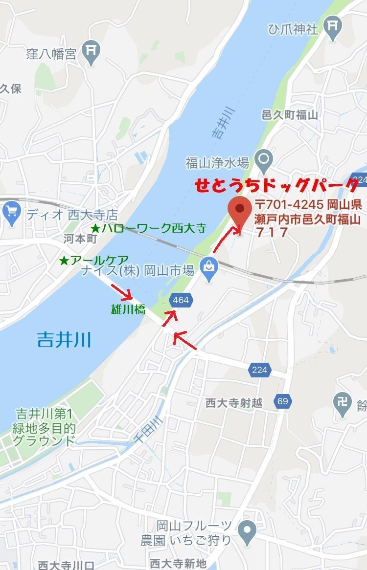 せとうち保護犬猫、地図 - コピー - コピー - コピー - コピー