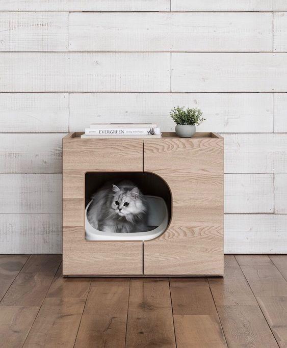 おしゃれな猫のトイレ