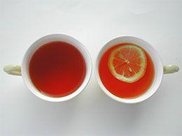 紅茶にレモン