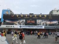 タクシーで台南市立棒球場着201024