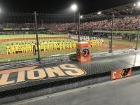 台湾シリーズは全員起立で国歌演奏201103