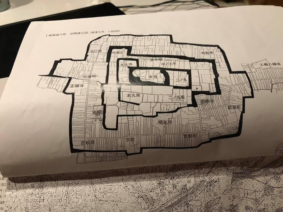 福島城古地図