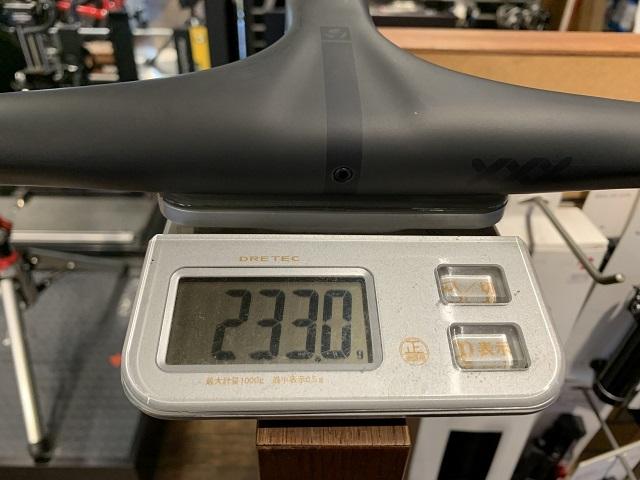 ボントレガー XXX Integrated Road HandlebarStem 実測重量
