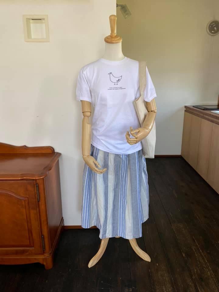 トリさんTシャツを着たトルソー