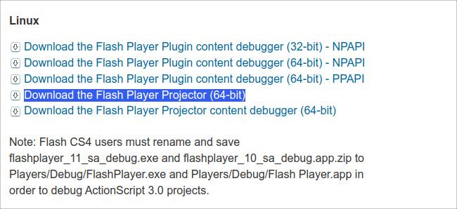 Ubuntu 20.04 Flash Player ダウンロード