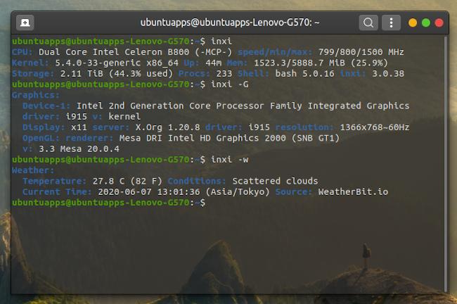 Ubuntu 20.04 inxi