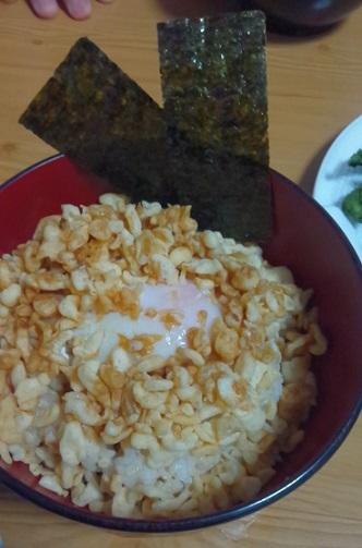 20200422モチ麦リトル天ぷら丼