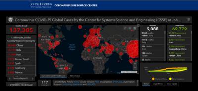 Johns Hopkins Coronavirus Map