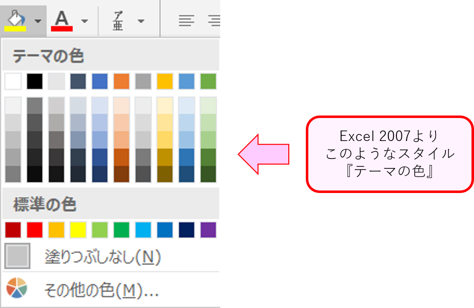 ExcelVBAテーマの色(カラーパレット)1