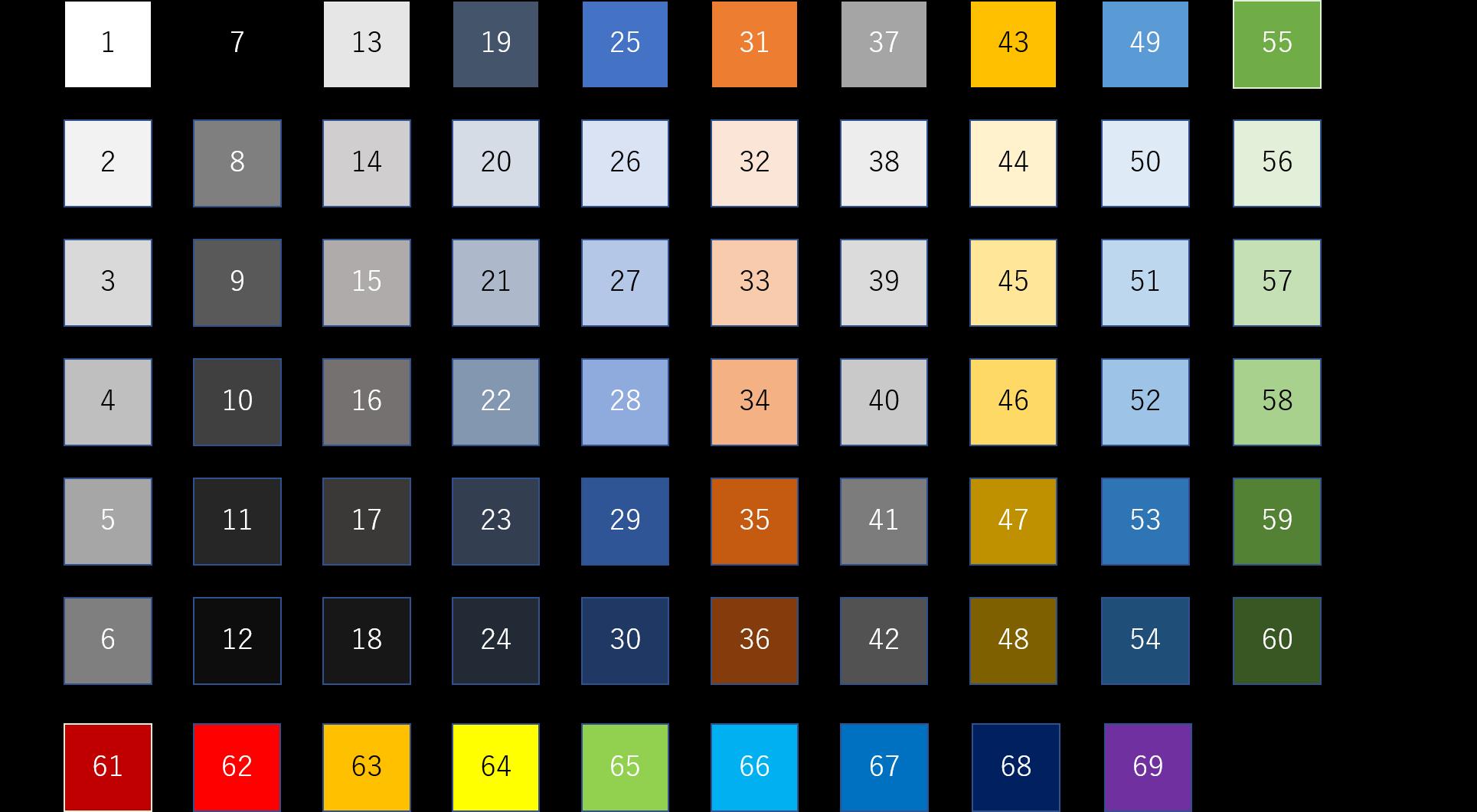 ExcelVBAテーマの色(カラーパレット)2