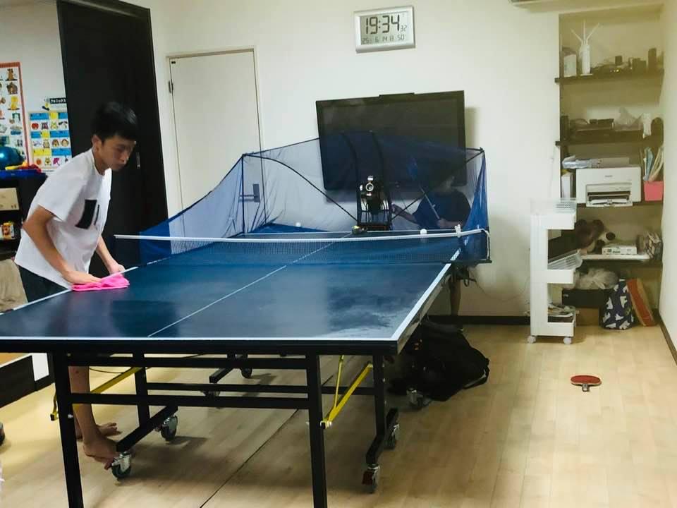 20200614_練習後_卓球台掃除01